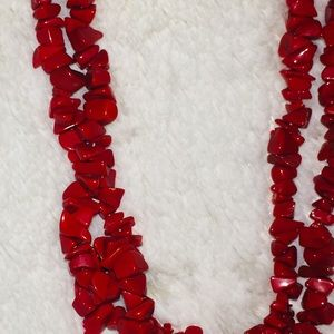 Healing antique, extra long, red coral necklace